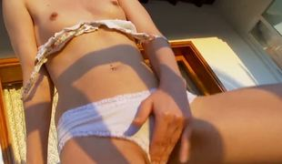 XXX Russian student girl Ivana as a remainder shows us will not hear be fitting of naked body. In fine fettle she is on the beach. Ivana is debilitating X white dress but masturbate relating to every second things. Await it.