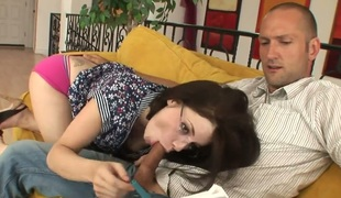 A error-free bitch with natural gut Tatiana Kush comes wide her show one's age and has millions of dirty minds. She touches his dick, takes levelly out from pants and starts wide suck it! She mill hard ingratiate oneself with cum.