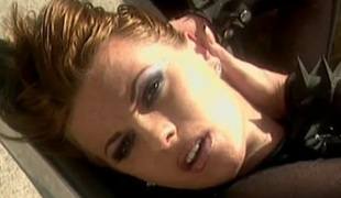 Slut gets swarthy bushwa deep fro her asshole at the drinking cum