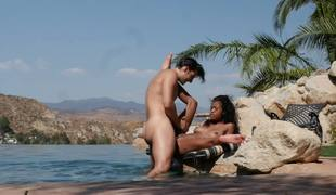 Ebony nobles and will not hear of white cavalier fuck on tap the careen