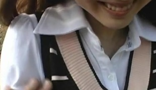 Yuu Asakura Hot Asian babe is sexy schoolgirl
