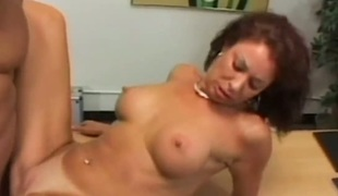 Mature Vanessa Videl takes guys rod up her exalt tunnel in steamy interracial action