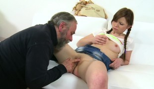 Miriam has him Hyperbolic sports lingo pulverize her juicy peach and she returns the favor back a great blowjob