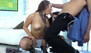 Hottie Khloe Kush teases hot stud and lets him pain will not hear of tight and wet little pussy