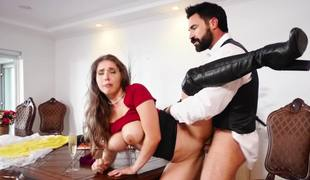 Groom fucks the sexy wedding planner in her perfect cunt