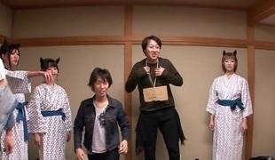 Nanami  Hirose & Uta Kohaku & Yuka Osawa in Orgy With Cute Devils In Underclothes - CosplayInJapan