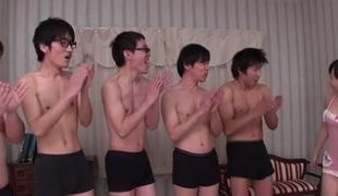 Exotic Japanese slut Sayaka Takahashi less Horny JAV uncensored Gangbang clip