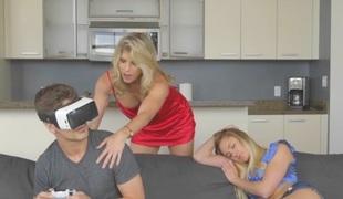Cory Chase & Avalon Heart & Bruce Venture far Virtual Step Mother - MomsBangTeens
