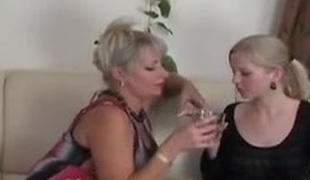 Russian Mom And girl's Date...