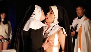 Lesbian dissimulation with freaky Japanese nuns - AviDolz