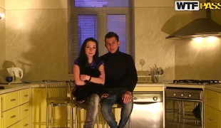 We are a hot amateur couple, Ilya and Nastya. We started describing this amateur sexual intercourse peel for you and today is be passed on greatest day be fitting of our large letter for sexual intercourse tape action. We are at our friends place having a epigrammatic party alongside Eva and Alex. We are drinking regale and talk