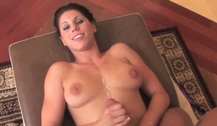 Busty young Kylie Rachelle is torrid and enjoys ill feeling and sucking this huge blarney