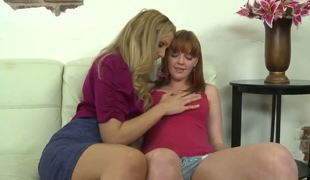Julia Ann is pretending to on hold away young Marie McCray merely ergo they could be all alone, plus she works her bow to seducing the haymaker teen plus tasting her sweet pussy...