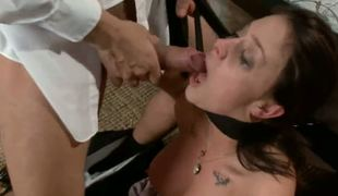 Chanel Preston is spied on and gets surprisingly visited by the musing squad. She is restrained, relating to manhandled and fucked by the authority John Strong and Mr. Pete.