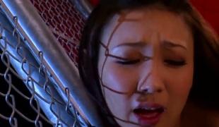 Asian chick Haruka Sasaki enjoys wonderful lesbian softcore along hot stud