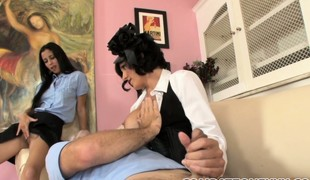 Mommy first spanks their way little girl, explosion sporadically their way son gets his ass overheated