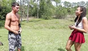 Teen girl Adrian Maya gets payback with the gardener