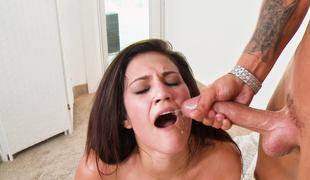 Big weasel words plows a hottie added to gives her a sticky facial