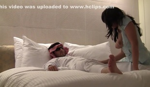 German milf and her husband in a hotel