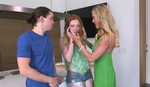 Brandi Have a crush on & Katy Kiss & Alex Davis in All In Brandi - MomsBangTeens