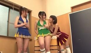Best Japanese whore Riku Minato, Chika Arimura, Saki Hatsuki in Fabulous blowjob, group sex JAV instalment
