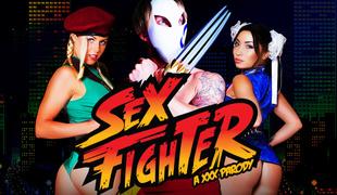 Christen Courtney & Rina Ellis & Luke Hardy in Sex Fighter: Vega Gets Vagina XXX Parody - Brazzers