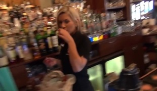 Who wanted on touching fuck a barmaid?