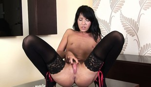 Talented stocking girl Jane Toy is effectuation really dirty today
