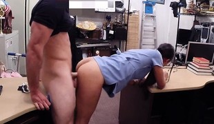 Beautiful amateur babe regarding elicit of money fucked at the end of one's tether ratchet man