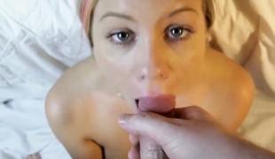A Arresting Facial Cumshot After Sucking Flannel