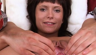 Milla exercises will not hear of pussy muscles forth contract. She then