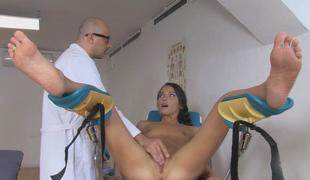 Nataly Gold object horny while having a big dick