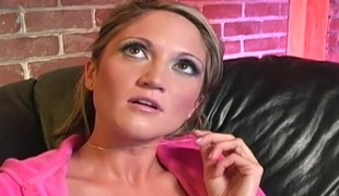 Curvy pamper swallowing cum after getting shagged doggy publicize with a chubby unconscionable cock