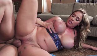 Heavy cock submerged in the cunt of curvaceous milf Eva Notty