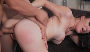 Young couple uses many vitality of reaching wonderful pleasure