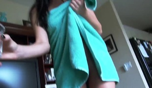 Sexy Kimmy Kay hunted in the street and spied in her house!