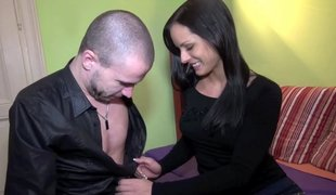 Czech cutie round a nice couple of tits getting fucked