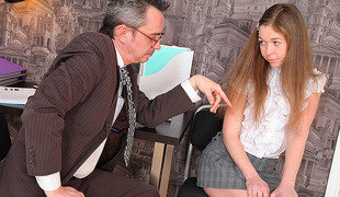 TrickyOldTeacher - Sexy sexy student sucks cock be worthwhile for old crammer and takes his cock deeply