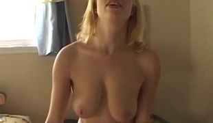 Certainly busty palmy milf blows with an increment of gets fucked in missionary pose