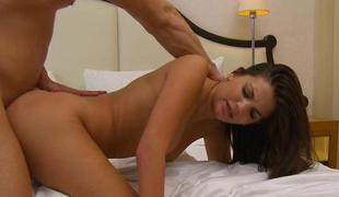 Attracting lover sizzles chaps cock with a riding