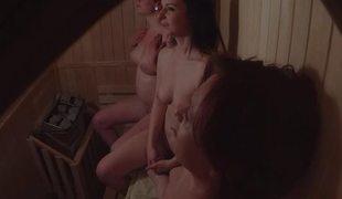 Tyro Three Girls Spied in Sauna