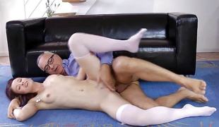 Raunchy puerile gets her pussy drilled