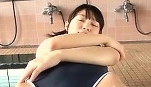 Softcore Asian Apropos A Swimsuit Teasing