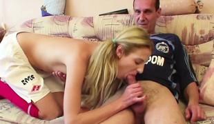 Step-Dad seduce young Step-Daughter involving Fuck his big Hawkshaw