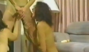Sexy cowgirl screaming as her pussy is banged hardcore reverend in ffm sex