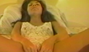 Skinny cougar encircling stockings anal toys before brute smashed cowgirl style