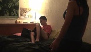 Babysitter teaches Jordi how to masturbate