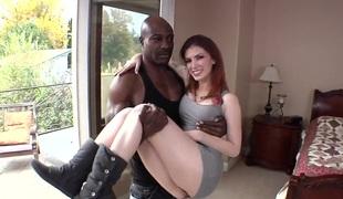 Hot and horny porn star Indigo Augustine needs huge black locate