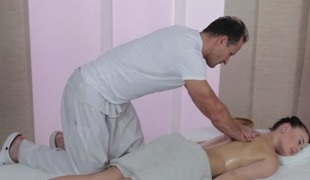 George & Lucy Li in George Insusceptible to Lucy Li - MassageRooms