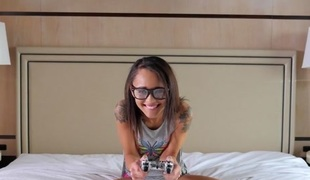 Holly Hendrix in Geeky Gamer Girl - PassionHD